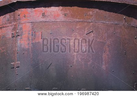 A texture of an old metallic rusted surface.