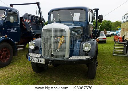 PAAREN IM GLIEN GERMANY - MAY 23 2015: Truck Daimler-Benz LAF 311/36 1958. The oldtimer show in MAFZ.
