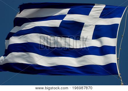 The flag of Greece was officially adopted by the First National Assembly at Epidaurus on 13 January 1822. flaggreekgreececountryemblemeuropeeuropeanflagpolenationnationalsymboltravel