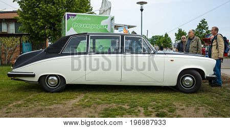 PAAREN IM GLIEN GERMANY - MAY 23 2015: Luxury car Daimler limousine DS420 1986. The oldtimer show in MAFZ.