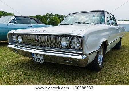 PAAREN IM GLIEN GERMANY - MAY 23 2015: Mid-size car Dodge Coronet 440 1967. The oldtimer show in MAFZ.