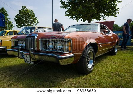 PAAREN IM GLIEN GERMANY - MAY 23 2015: Personal luxury car Mercury Cougar XR-7. The oldtimer show in MAFZ.