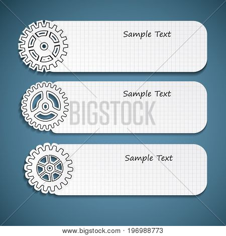 Industrial abstract banners set with place for text vector Illustration