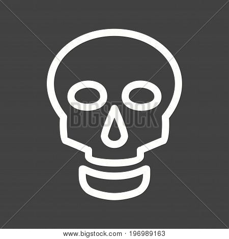Skull, brain, head icon vector image. Can also be used for funeral. Suitable for mobile apps, web apps and print media.