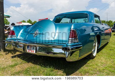 PAAREN IM GLIEN GERMANY - MAY 23 2015: Personal luxury car Lincoln Continental Mark II. Rear view. The oldtimer show in MAFZ.