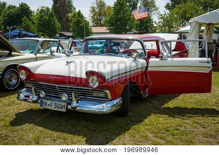 PAAREN IM GLIEN GERMANY - MAY 23 2015: Full-size car Ford Fairlane 500 1957. The oldtimer show in MAFZ.