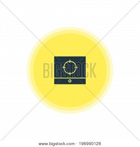 Beautiful Web Element Also Can Be Used As Target Scope Element.  Vector Illustration Of Screen Capture Icon.