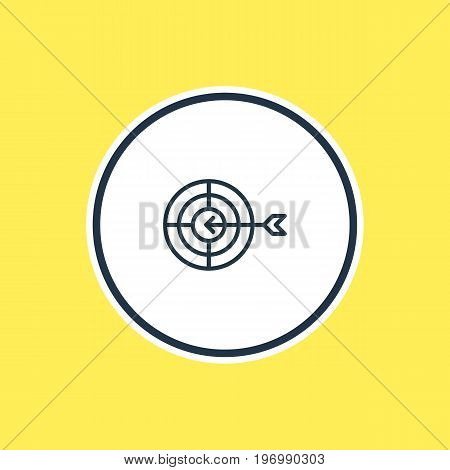 Beautiful Advertising Element Also Can Be Used As Goal Element.  Vector Illustration Of Aim Outline.