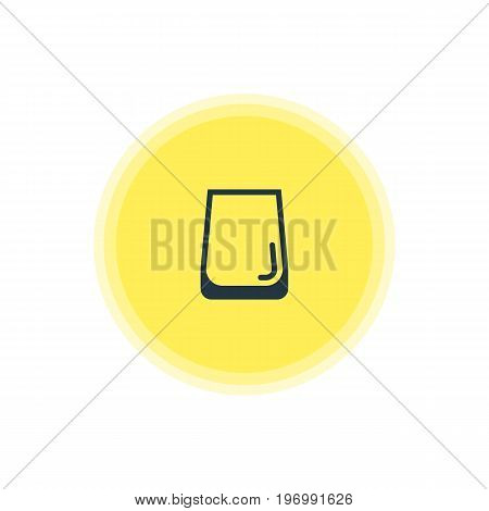 Beautiful Cooking Element Also Can Be Used As Glass Cup Element.  Vector Illustration Of Water Glass Icon.