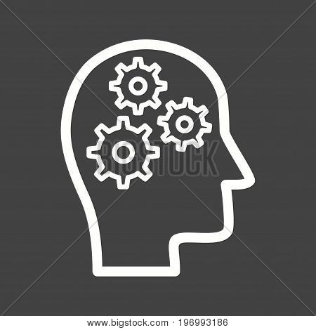 Process, thinking, brain icon vector image. Can also be used for soft skills. Suitable for mobile apps, web apps and print media.