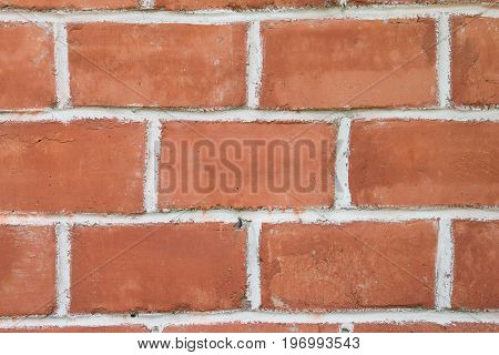 Background of a large red brick. Masonry of old red brick