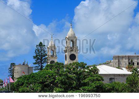 Clock Towers on Bermuda Royal Naval Dockyard