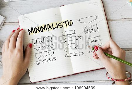Minimalistic Creative Logo Label Product Trademark Design