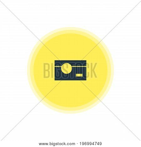 Beautiful Web Element Also Can Be Used As Capture Element.  Vector Illustration Of Camera Icon.
