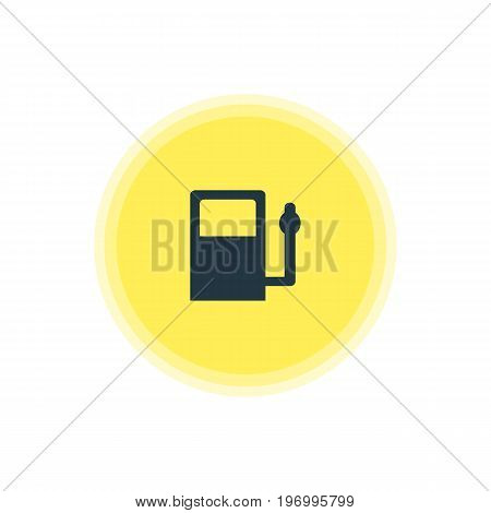 Beautiful Location Element Also Can Be Used As Refueling Element.  Vector Illustration Of Gas Station Icon.