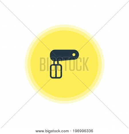 Beautiful Restaurant Element Also Can Be Used As Whisk Element.  Vector Illustration Of Hand Mixer Icon.