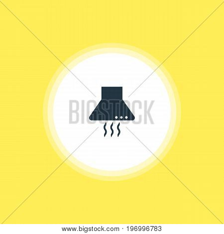 Beautiful Cooking Element Also Can Be Used As Extractor Appliance Element.  Vector Illustration Of Kitchen Hood Icon.