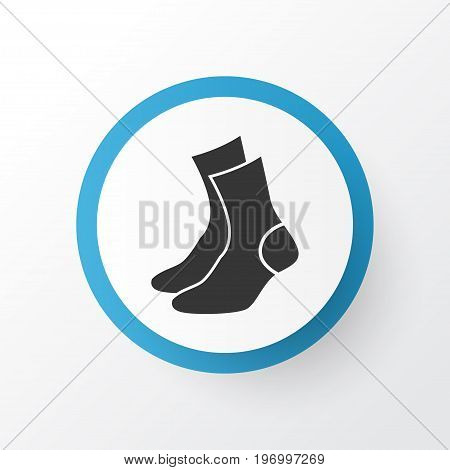 Premium Quality Isolated Half-Hose Element In Trendy Style.  Socks Icon Symbol.