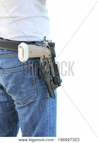 Carry A Shot Gun Isolated On White Background