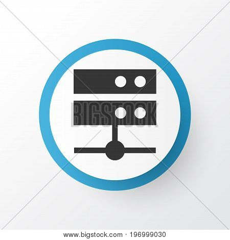 Premium Quality Isolated Datacenter Element In Trendy Style.  Media Server Icon Symbol.