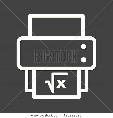Function, spreadsheet, paper icon vector image. Can also be used for Math Symbols. Suitable for use on web apps, mobile apps and print media.