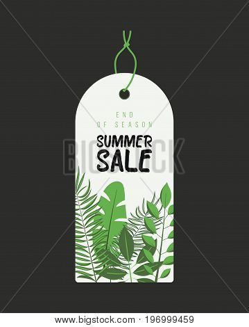 End of Season. Summer sale background with flowers, ranunculus, succulent, eucalyptus. Banner, flyer, invitation posters brochure voucher discount Advertising