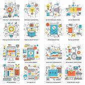 Flat Line Concepts - idea and imagination, digital marketing, social media, web development, program coding, investment, SEO and web optimization, innovation, UI development, design, banking and money poster