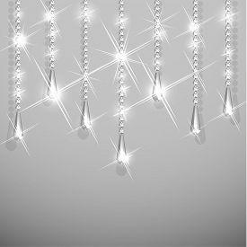 Background with diamond garland jewelry hanging - raster version