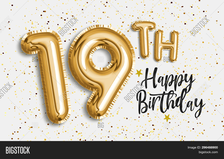 Happy 19th Birthday Image & Photo (Free Trial) | Bigstock