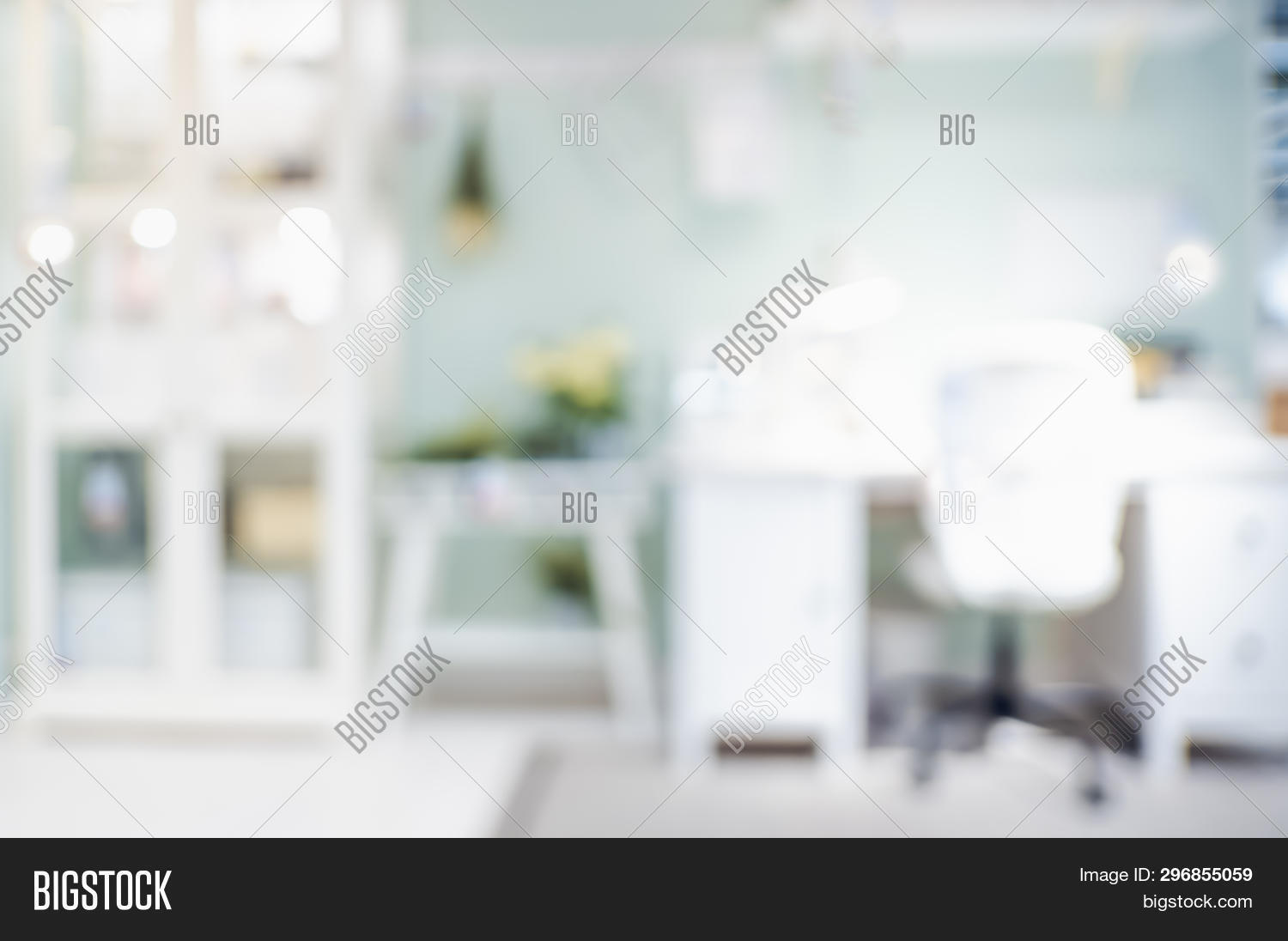 Blur Desk Workplace Image Photo Free Trial Bigstock