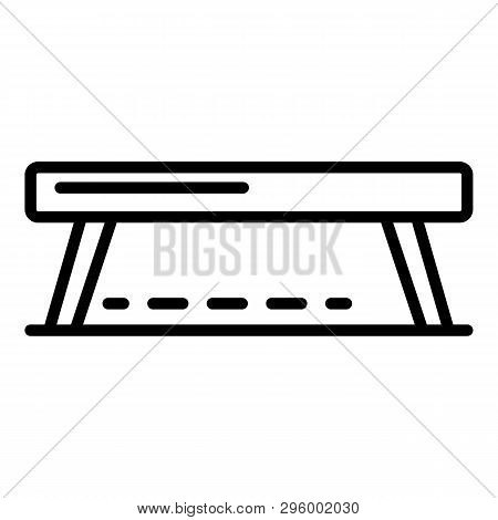 Balance Beam Icon. Outline Balance Beam Vector Icon For Web Design Isolated On White Background
