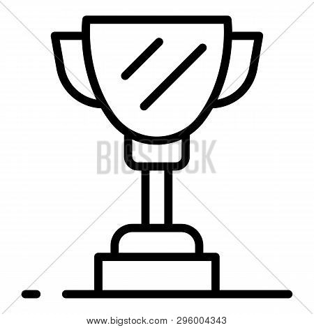 Champions Cup Icon. Outline Champions Cup Vector Icon For Web Design Isolated On White Background