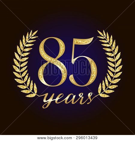 85 Th Years Old Logotype. Isolated Elegant Abstract Nominee Graphic Seal Of 85%. Congratulating Cele