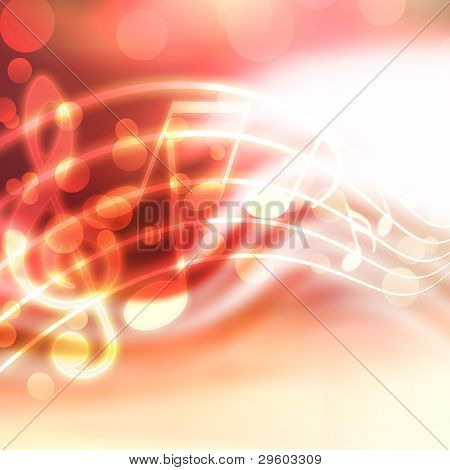 abstract musical background with blurred lights