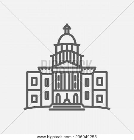 Congress Icon Line Symbol. Isolated Vector Illustration Of  Icon Sign Concept For Your Web Site Mobi