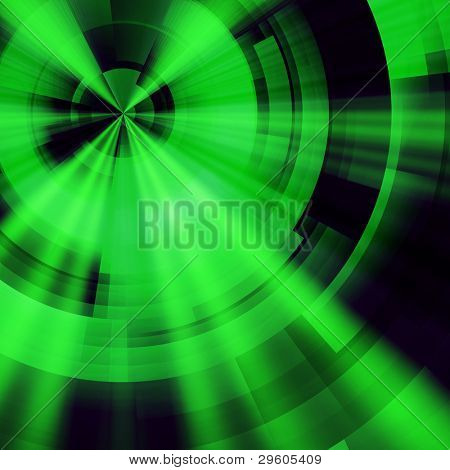 abstract background green circles of rectangular