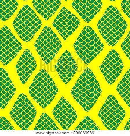 Snake Skin Seamless Pattern Vector Illustration Eps10. Fashionable Animal Print. Exotic Reptile Styl