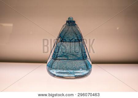 Glas Bottle Isolated On White Background Photography
