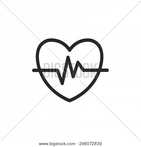 Cardiogram Icon Isolated On White Background. Cardiogram Icon In Trendy Design Style. Cardiogram Vec