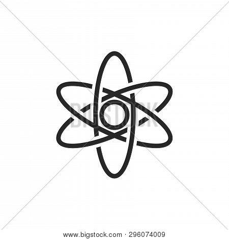 Atom Icon Isolated On White Background. Atom Icon In Trendy Design Style. Atom Vector Icon Modern An