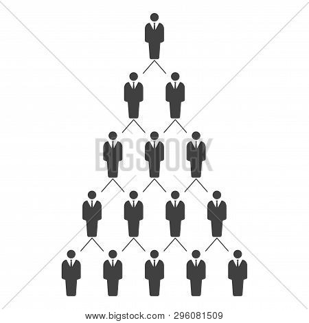 Graphic Illustration Of A Hierarchical Career Ladder. Hr Management System. Vector On White Backgrou