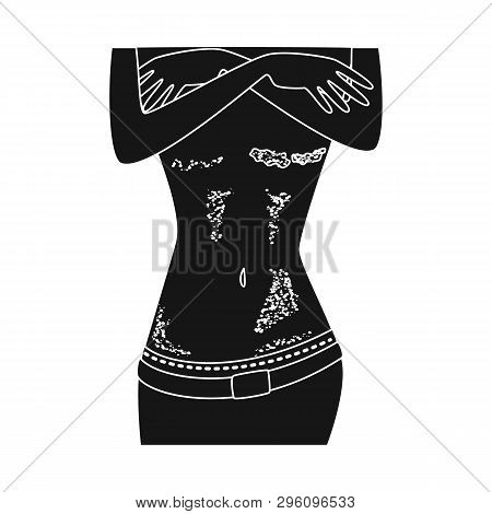 Vector Illustration Of Psoriasis  And Body Symbol. Collection Of Psoriasis  And Itch Vector Icon For