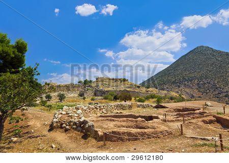 Town Mycenae Ruins, Greece