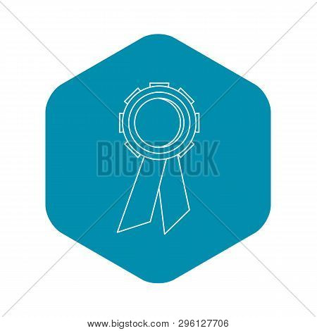Champion Medal Icon. Outline Illustration Of Champion Medal Icon For Web
