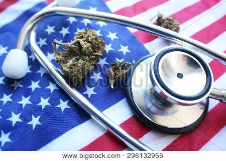 Medical Marijuana In America High Quality Stock Photo