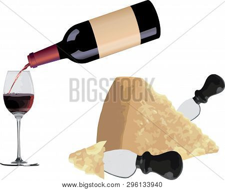 Red Wine With Parmesan Cheese Red Wine With Parmesan Cheese