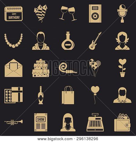 Discotheque Icons Set. Simple Set Of 25 Discotheque Icons For Web For Any Design