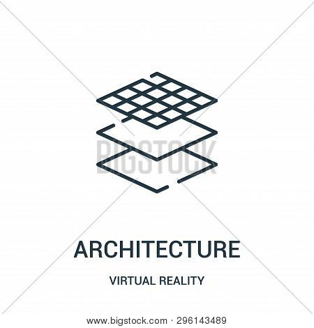 Architecture Icon Isolated On White Background From Virtual Reality Collection. Architecture Icon Tr