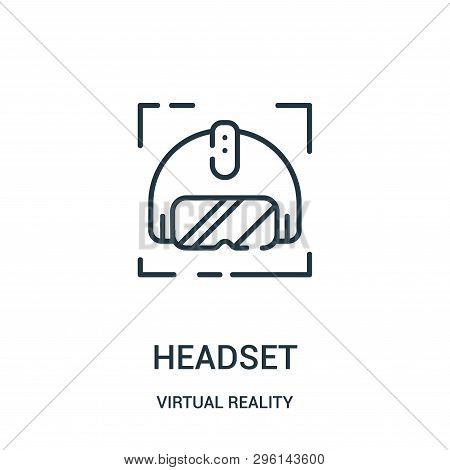 Headset Icon Isolated On White Background From Virtual Reality Collection. Headset Icon Trendy And M