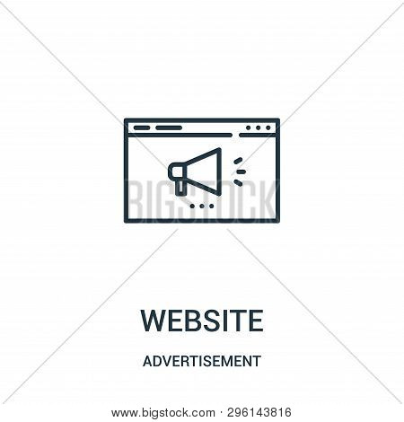 Website Icon Isolated On White Background From Advertisement Collection. Website Icon Trendy And Mod